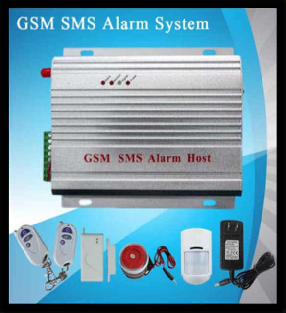 GSM SMS alarm system 8 wireless zone and 2 wired zone Burglar Alarm ...
