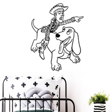 Exquisite dog man Removable Pvc Wall Stickers Kids Room Nature Decor Nordic Style Home Decoration цена
