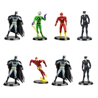 8pcs Set DC Batamn The Flash Tony Stark Riddler Mini Collectible Action Figure Free Shipping