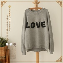 2017 new mori girl winter O-neck type batwing pullover sweater female winter women's  platinum