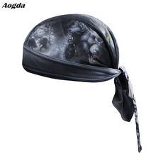 Мужская велосипедная бандана пиратский шарф головные уборы черная