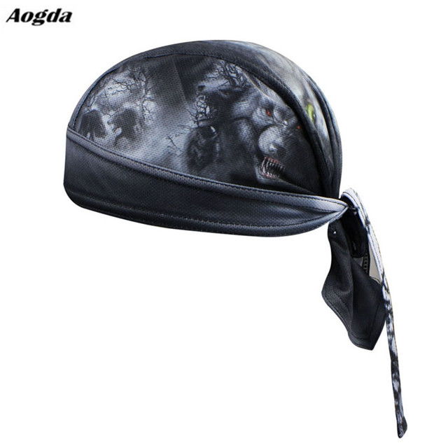 Men Bike cycling bandana pirates scarf headsweats hats Wolf Black MTB  bicycle head wear cap Riding Sweat Proof Hat Headband 715cd2c3f1c