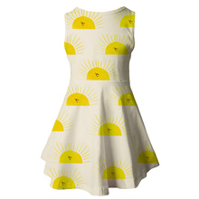 New Product Girl Dress Sun Printing Children Cute Sleeveless A-Line Kids 2019