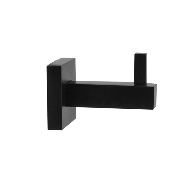 Black Stainless Steel Shelf Wall Mounted Hangers Bathroom Towel Rack Clothes Hat Hanger Kitchen Toilet Small