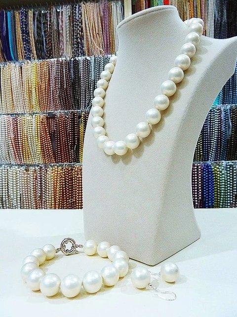 8e8e729f618b Mano 14mm blanco azul gris verde negro oro mar Shell perla collar pulsera  aretes de bisutería