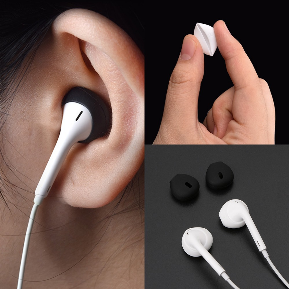 9e0e1558a11 2Pairs Eartip Silicone in-ear Headset Earbuds Cover with Ear Hook for Apple  Airpods iPhone