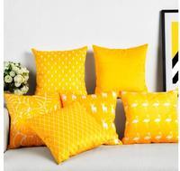 צהוב נורדי כיסוי כרית כרית קטיפה צבי צהוב לימון קטיפה ציפית ספת פלמינגו