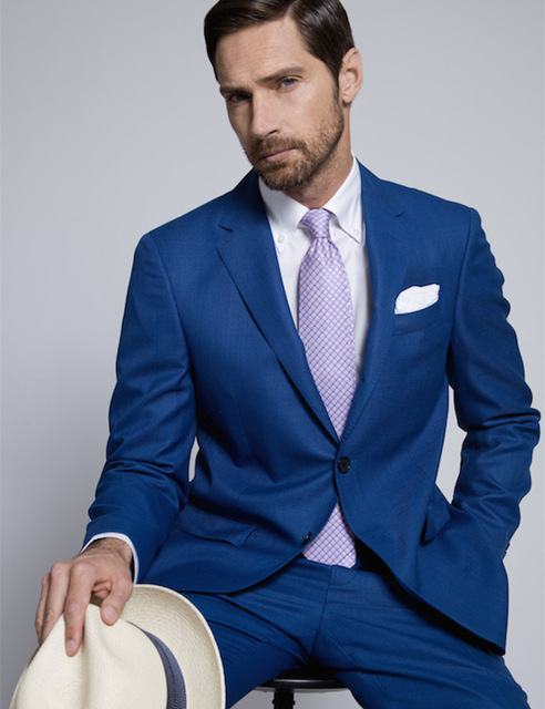 1006 Mucielee Ternos Masculinos Slim Fit Blazer Tuxedo Cheap Suits For Men Prom Royal Blue Suit Masculino 2 Pieces (Jacket+Pants)