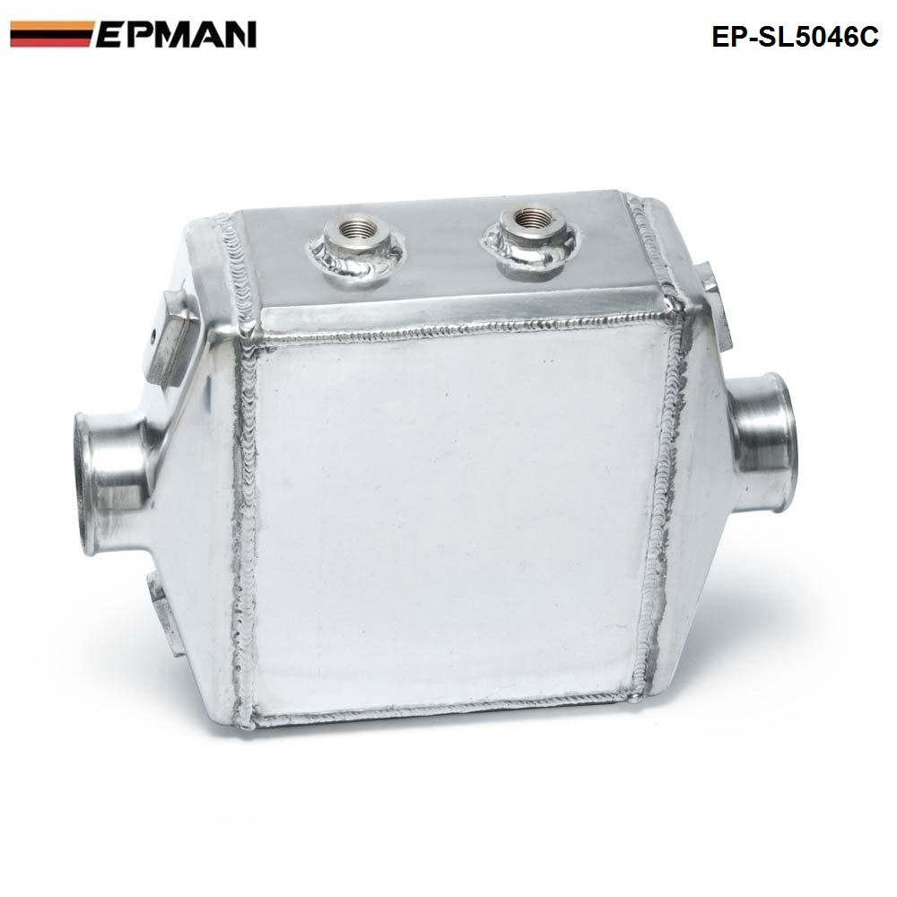 EPMAN -Universal Aluminum Water-to-Air Liquid Racing Intercooler Core: 250 X 220 X 115mm Inlet/Outlet: 3  EP-SL5046C epman universal aluminum water to air liquid racing intercooler core 250 x 220 x 115mm inlet outlet 3 ep sl5046c