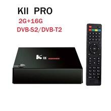 KII Pro DVB-S2/DVB T2 TV Box Amlogic del Androide 5.1 2G 16G S905 Quad Core Doble Wifi Blutooth 4.0 HD 4 K 1080 P Smart Media jugador
