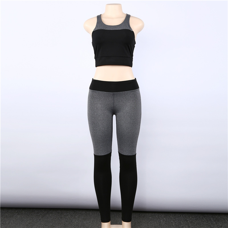 Women's Tracksuit Sexy Halter Yoga Bra + Sport Legging Tights Running Gym Fitness Patchwork Yoga Suit Women Sports Suit