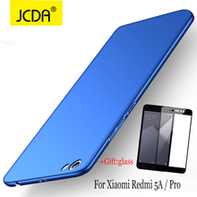 ФОТО jcda case for xiaomi redmi note 5a case silicone flip luxury frosted shield hard back cover case xiaomi redmi note 5a prime case