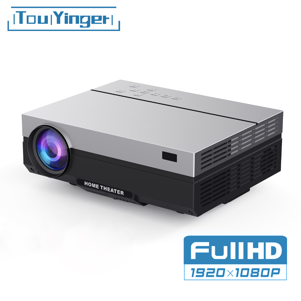 Touyinger T26K LED Native 1080p Projector Full HD Beamer Video 5500 Lumen T26L Home Cinema HDMI ( Android 8.1 Wifi AC3 Optional)(China)