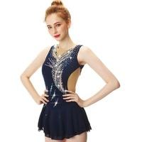Blue Figure Skating Dress Ice Skating Dress Spandex For Women's girl's