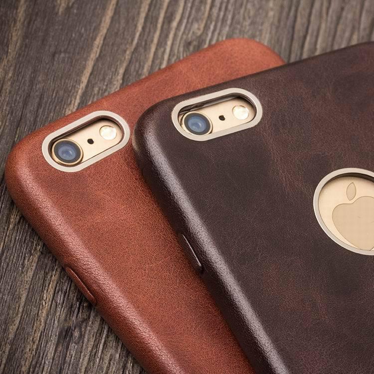 QIALINO Kulit Asli Kasus Telepon untuk iPhone 6 & 6 s Kulit Betis - Aksesori dan suku cadang ponsel - Foto 2
