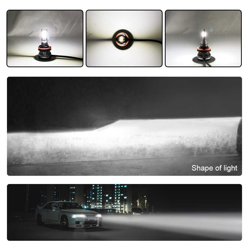 2PCS H7 LED H4 MINI Car Headlight Bulbs 12000LM H1 LED H11 9005 HB3 9006 HB4 Auto 12V LED Lamps Automobiles