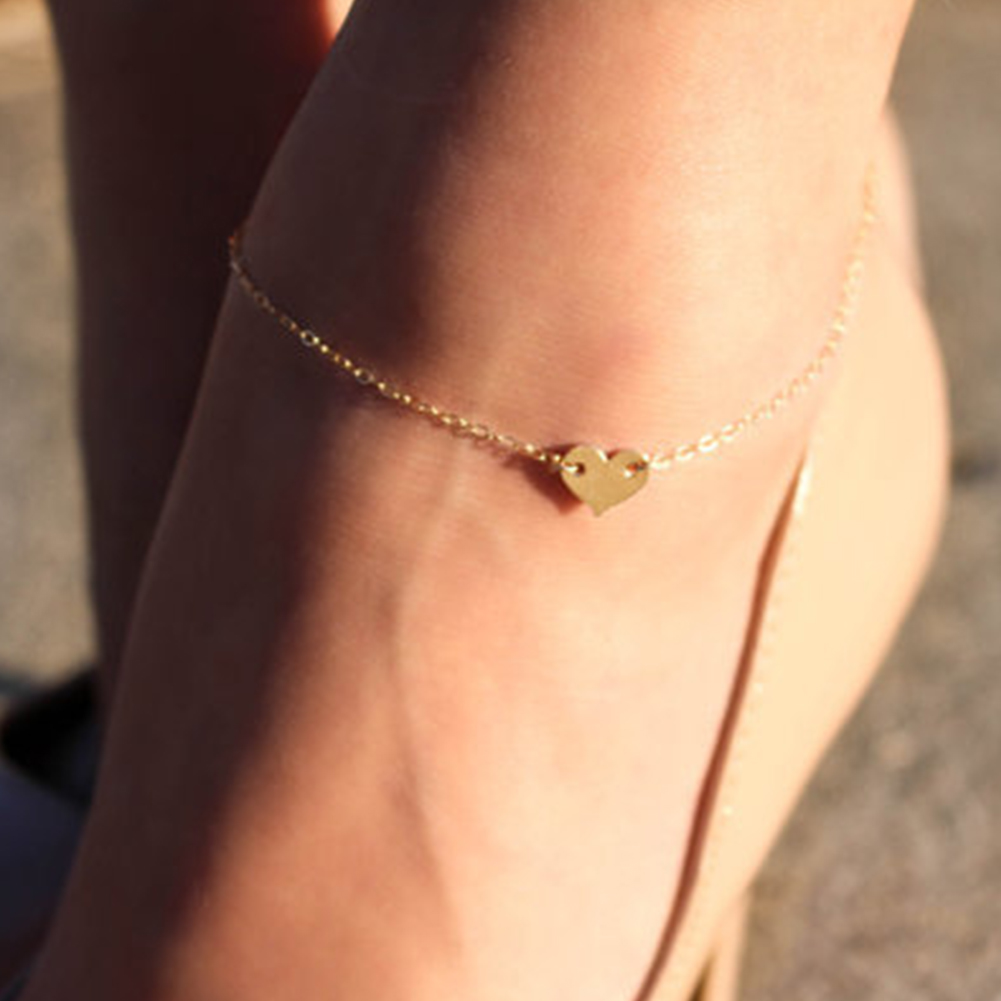design girl item silver for alloy simple big ankle gold charm anklets shape anklet bracelet getsubject foot ankles women feet chain aeproduct