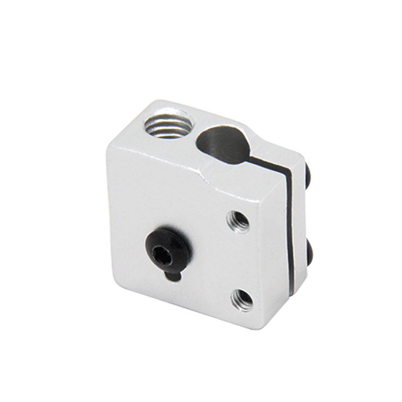 1PC Volcano Hotend Heated Block For Makerbot MK7 MK8 Extruder Heated Aluminum Block 24x20x12mm 3D Printer Accessories Part