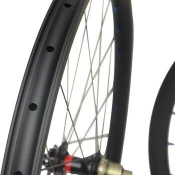 345 г легкий вес 29 дюймов карбоновый обод бескамерный готов для 29er горный велосипед колеса XC Mtb набор колес с NOVATEC D791/D792 ступица