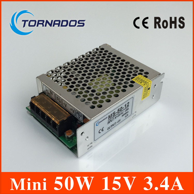 15V 3.4A 50W Mini size LED Switching Power Supply Transformer  for LED Strip light for CCTV15V 3.4A 50W Mini size LED Switching Power Supply Transformer  for LED Strip light for CCTV