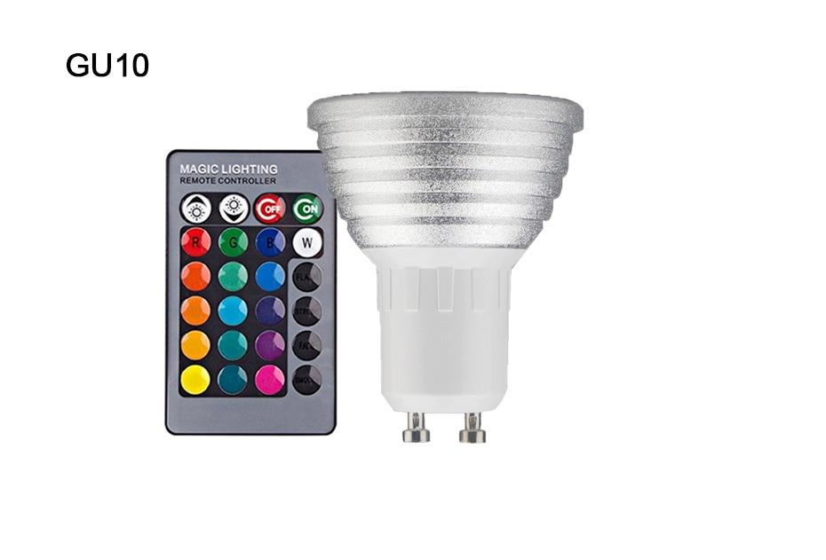 RGB LED Light Blubs E27//E26//E14//B22//GU10 Remote Control Magic Lighting 1//2//4Pack