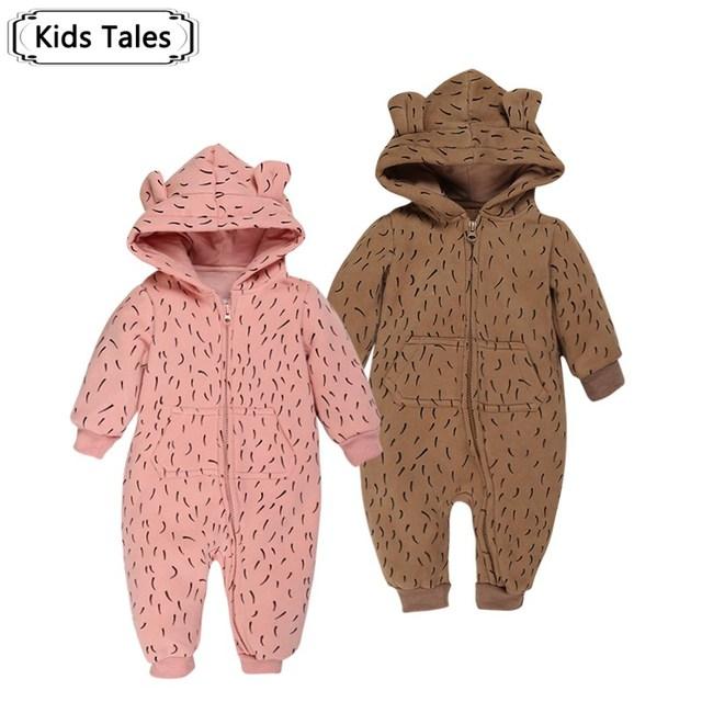SR051 bebê de Alta qualidade roupas de inverno macacão com capuz bebê macacão para Bebe Menino e Menina roupa dos miúdos