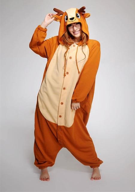 d71b4fb7aa 2017 Adult Pajamas Sleepwear All in One Pyjama Animal Suits Homewear Women  Winter Autumn Garment Cute