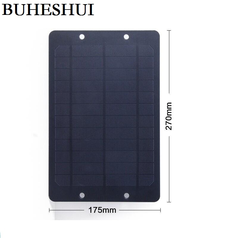 BUHESHUI 6V 6W Mini monocrystalline PET Solar Panel Small Solar Cell Battery Bicycle Sharing Share DIY Solar Charger 270*175*2MM