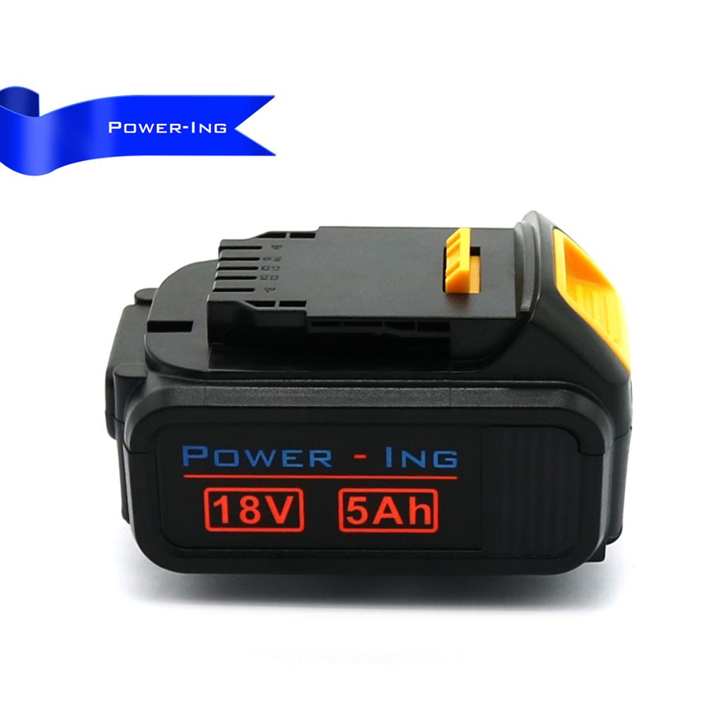 High quality 18v 5ah lithium replacement battery for dewalt power tools DCB200 DCB180, DCB181, DCB182, DCB201, DCB201-2 5000mah 20v lithium ion power tool rechargeable battery replacement for dewalt 20v dcb181 dcb180 dcb182 dcb200 dcb201 dcb203