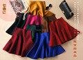Candy Color Double Side Umbrella Skirt 2016 New High Waisted Womens Tutu Skirt Winter New Jupe Patineuse 2015 Falda Pantalon