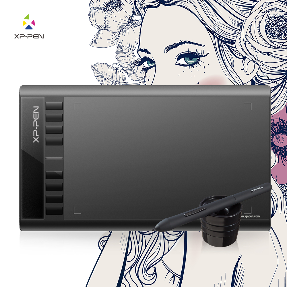 XP-Pen Star 03 Grafisk Tegning Tablet Med Batterifri PASSIV Pen Pen Digital Pen-8192-niveau trykfølsomhed