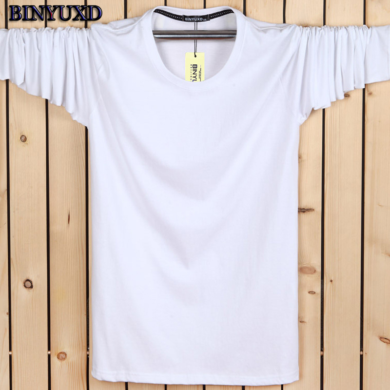 BINYUXD 3d t shirts men's brand clothing cotton fun Solid extended 6XL 2016 autumn winter style print 3d t shirt men