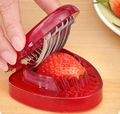 2 pcs Strawberry Slicer Cake Pie Garnish Vegan Fruit Salad Decoration Red