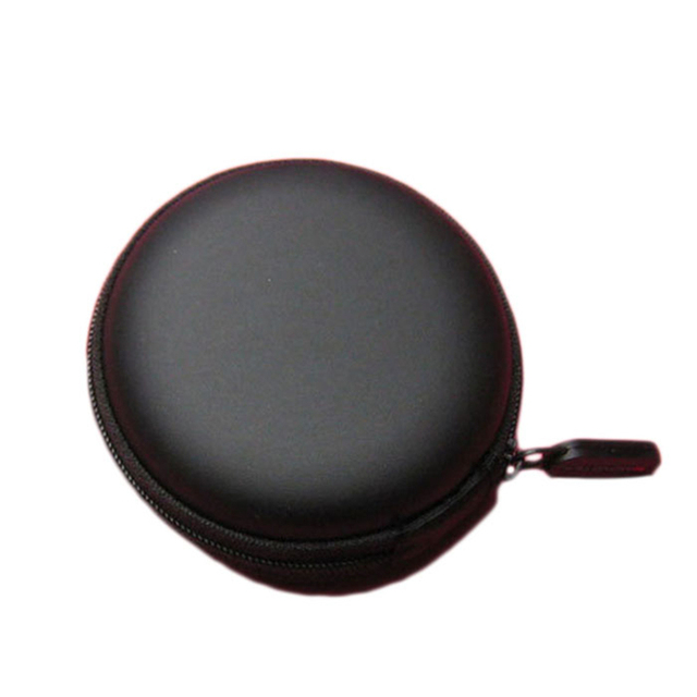 toopoot Portable Mini Round Hard Storage Case Bag for Earphone Headphone SD TF Cards Black Blue Pink Purple Red SkyBlue White