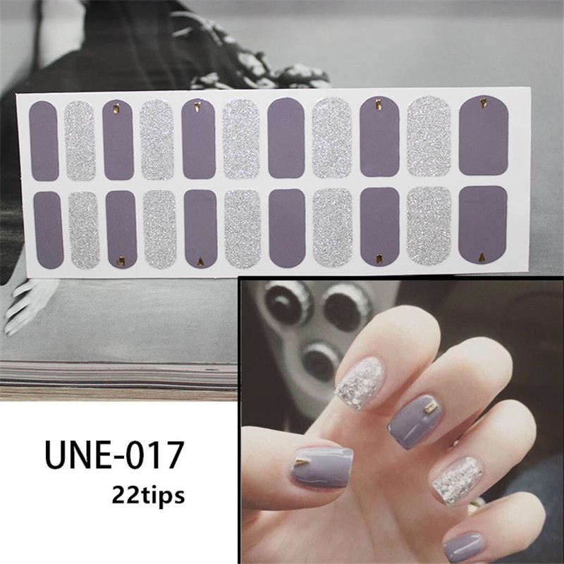 Lamemoria 1 Sheet DIY 3D Nail Sticker Classic French Nail Stickers Decals Environmental Glitter Nail Art Decorations Manicure in Stickers Decals from Beauty Health