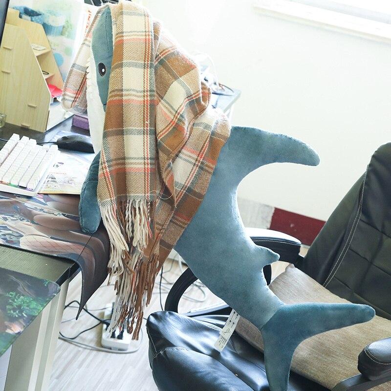 80/100/130cm Russian Shark Plush Toys Lifelike Animal Stuffed Cushion Soft Plush Pillow Simulation Big Sharks Doll Toy for Girl