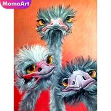 MomoArt Diamond Painting Turtledove Embroidery Full Drill Square Rhinestone DIY Mosaic Animal