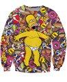 Женщины и Мужчины 3D Harajuku Новая Мода Galaxy Толстовка Sudaderas Mujer Кофты Балахон Famme Мультфильм Пуловер Топы