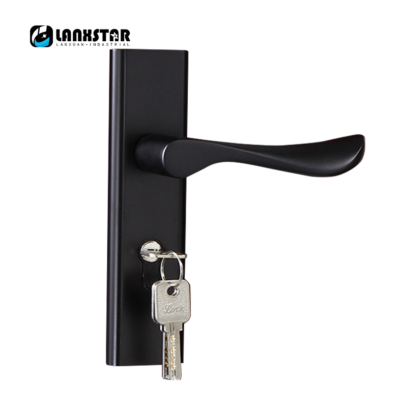 Dedecates Black Color Sub Space Aluminum Door Lock Indoors Handle Locks Silent Lockset Room Door-locks factory interior door lock living room space aluminum mechanical lockset wholesale quality assuranced handle locks