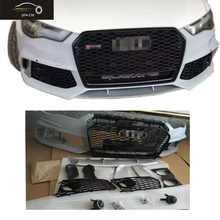 2016 A6 Front Bumper With Grill Change to RS6 Style Car Styling PP Material For Audi A6 2016 UP (NOT FOR Sline S6 RS6)