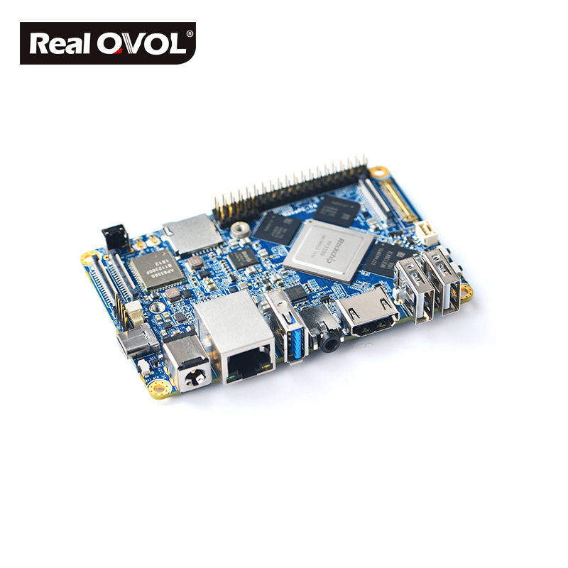 Image 2 - RealQvol NanoPC T4 Minimal Rockchip RK3399 Soc 4GB RAM 16GB eMMC AI and deep learning applications Dual band wifi M.2 PCIe NVME-in Demo Board from Computer & Office