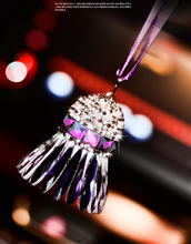 Crystal Badminton Car Pendant Hang Decoration Car Rear View Mirror Hanging Ornament Car Interior Decor Accessories
