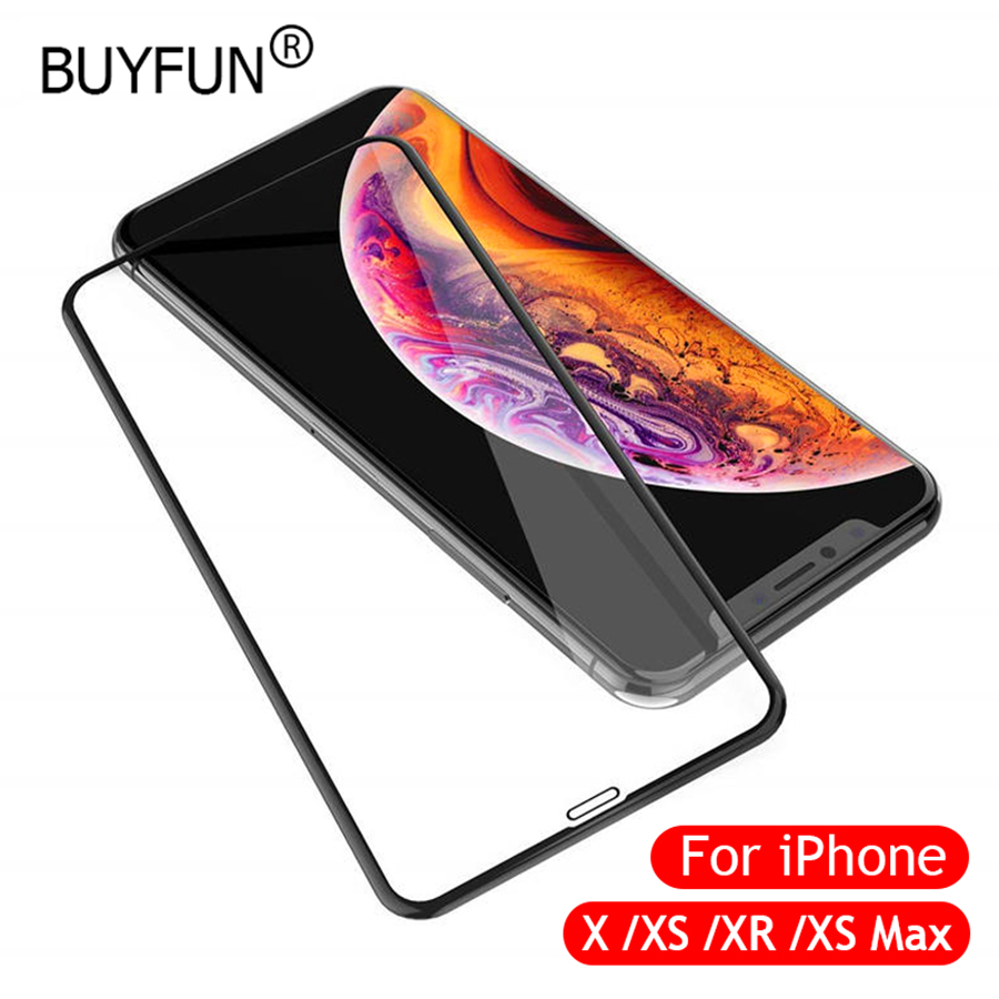 5D Tempered Glass for iPhone XS Screen Protector Glass for iPhone X XR XS Max 8 7 Plus Film Glass for iPhone XS 5.8inch 5.8