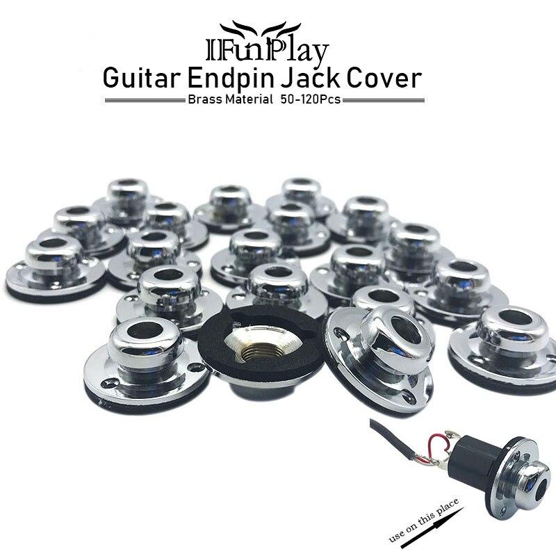 50pcs brass guitar endpin jack plate socket covers guitar jack strap button endpin plug socket. Black Bedroom Furniture Sets. Home Design Ideas
