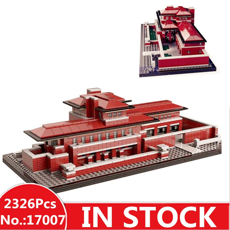 IN STOCK LEPIN 17007 2326Pcs Genuine Architecture Series The Robie House Set Educational Building Blocks Bricks Toys Model 21010 цена