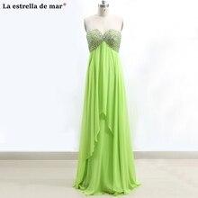 Sukienka na wesele dla kobiety2018 new chiffon crystal sexy V-neck halter a  Lline lime 17d02ccf179c