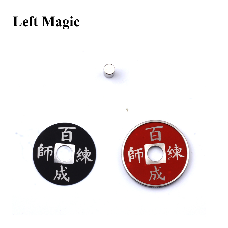 Left Magic- 1 juego Chinese Coin Color Change Trucos de magia mental - Juguetes clásicos - foto 4