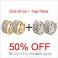 Dos Pares de Pendientes de Aro de CC Para Las Mujeres Aretes Bijoux Boucle Circones Brincos Ouro Aretes de Oro de Joyería de Moda Bijouterie E3329