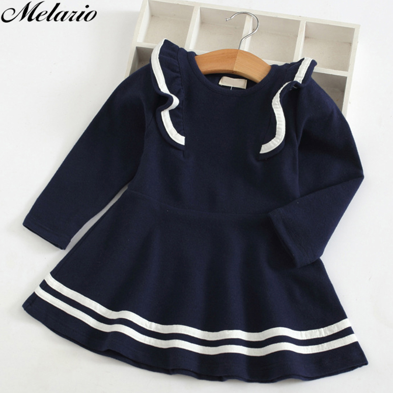 Melario Girl Dress 2018 New Autumn Girls Dress Full Sleeve Lace Princess Dress Kids Clothes Party Dress For 3-7 Year Kids Girl melario girls dress 2018 summer children clothes splicing lace dress hat girls floral kids princess dress for 2 6 years girl