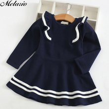 Melario Girl Dress 2019 New Autumn Girls Dress Full Sleeve Lace Princess Dress Kids Clothes Party Dress For 3-7 Year Kids Girl